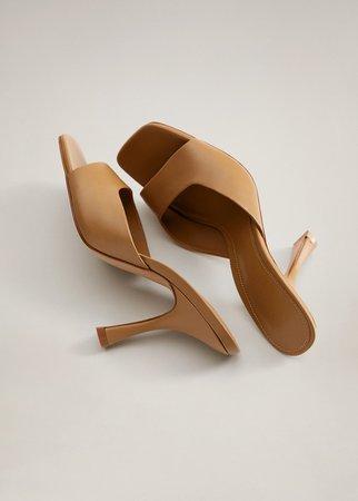 Heel leather mules - Women | Mango USA