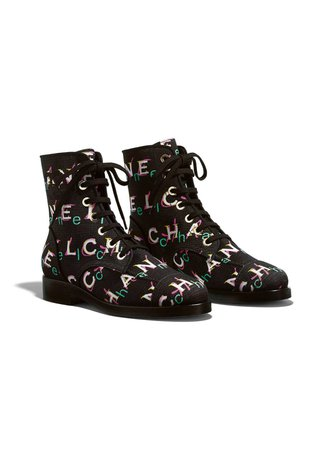 Chanel Tweed Short Boots