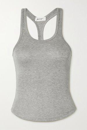 Gray Sophie stretch-jersey tank   The Line By K   NET-A-PORTER