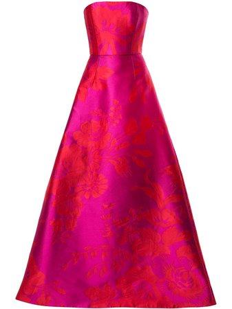 Carolina Herrera, Floral Jacquard Gown