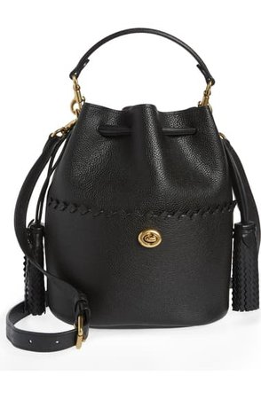 COACH Lora Whipstitch Leather Bucket Bag | Nordstrom