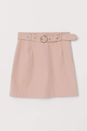 Skirt with Belt - Orange