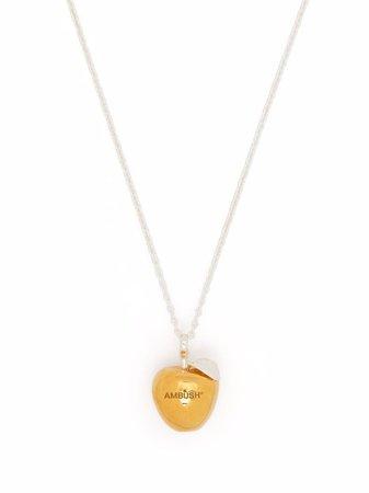 AMBUSH APPLE CHARM NECKLACE GOLD NO COLOR - Farfetch