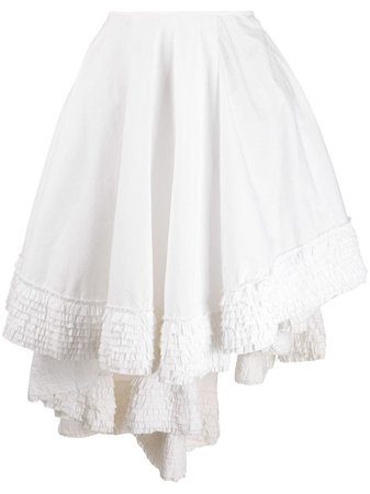 Alexander McQueen Pre-Owned 1990s Ruffled Details Asymmetric Skirt - Farfetch