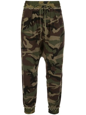 R13 mid-rise Cropped Camouflage Track Pants - Farfetch