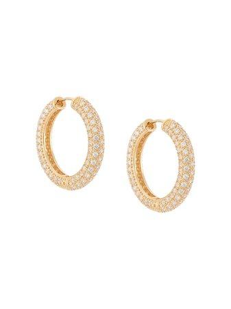 NUMBERING Pavé Hoop Earrings - Farfetch