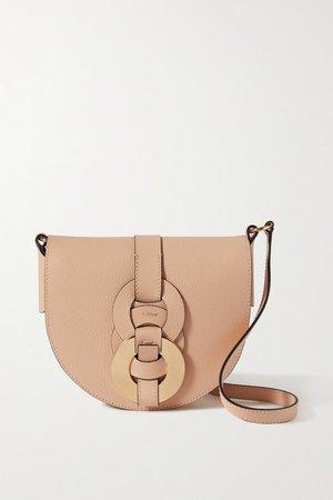 Darryl Small Textured-leather Shoulder Bag - Beige