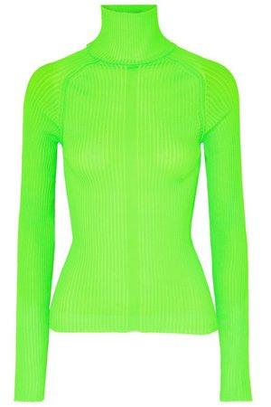 Acne Studios   Komina neon ribbed-knit turtleneck sweater   NET-A-PORTER.COM