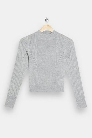 Gray Sport Knitted Crop Top | Topshop
