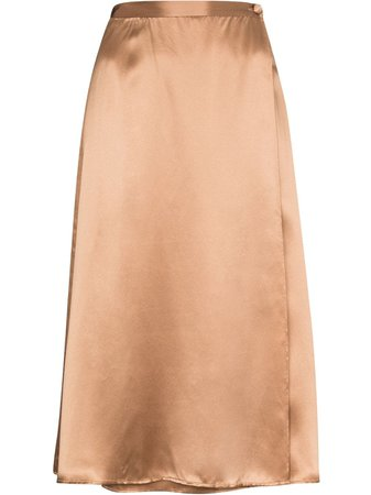 Reformation Side Button Fastening Silk Skirt - Farfetch