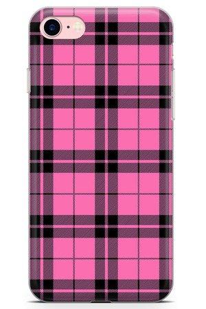 Pink Plaid Phone