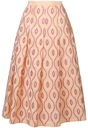 embroidered pattern skirt