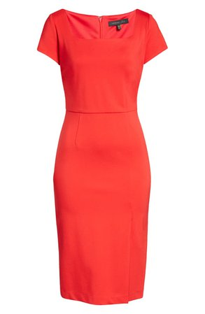 Forest Lily Square Neck Sheath Dress | Nordstrom