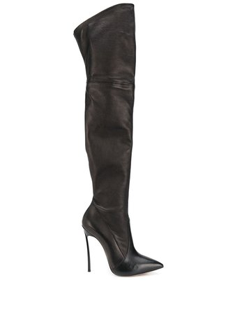 Casadei Blade Thigh-High Boots 1T000D125HHNAGU Black | Farfetch