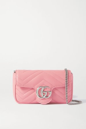 Pink GG Marmont super mini quilted leather shoulder bag   Gucci   NET-A-PORTER