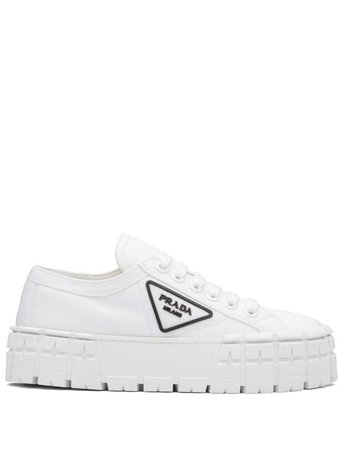 Shop white Prada Tyre low-top sneakers with Express Delivery - Farfetch