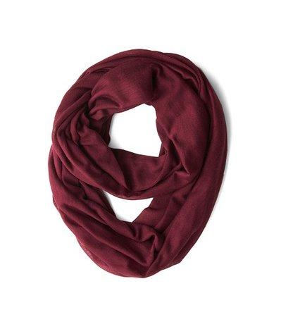 Burgundy red circle scarf
