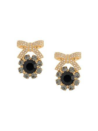 Erdem, Crystal Bow Earrings