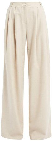 Ethel Cream Wool Blend Trousers