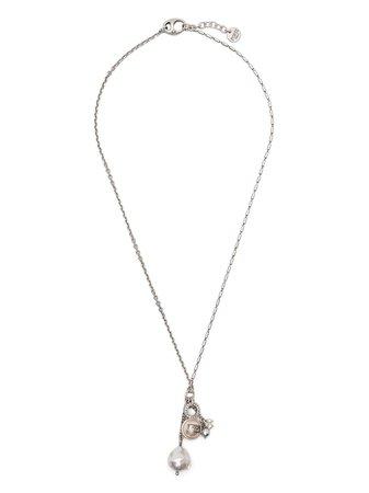 Ports 1961 pearl logo charm necklace - FARFETCH