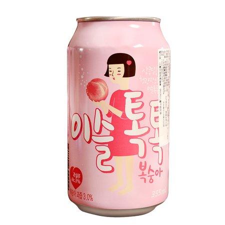 [USD 9.08] Korea Imports true Dew peach liquor soda Drink carbonated sake IU endorsement toot Soju 355ml - Wholesale from China online shopping   English Taobao   Taobao Agent - ChinaHao.com