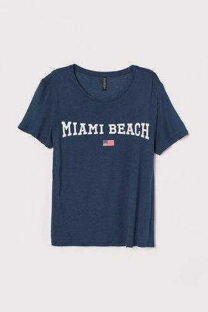 Viscose T-shirt - Blue