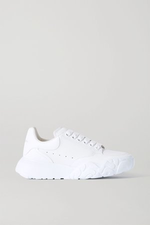 White Leather sneakers | Alexander McQueen | NET-A-PORTER