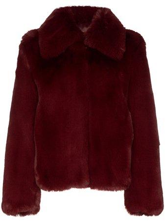 Red Sies Marjan Shearling Short Coat | Farfetch.com
