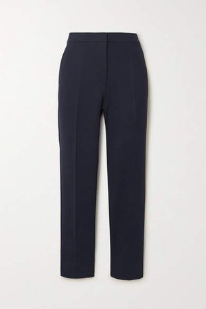 Pegno Stretch-cady Straight-leg Pants - Navy