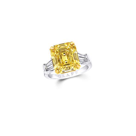 Classic Graff | Emerald Cut Ring, Yellow Diamond | Graff