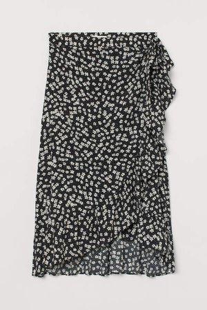 MAMA Wrap-front Skirt - Black