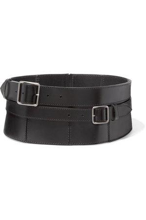 Alexander McQueen | Buckle-detailed leather corset belt | NET-A-PORTER.COM