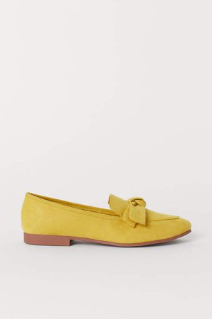 Loafers with Bow - Yellow