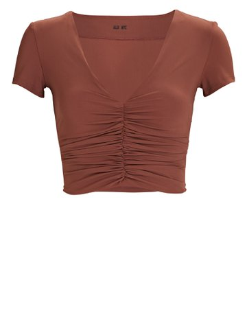 Alix NYC Raleigh Ruched Crop Top   INTERMIX®