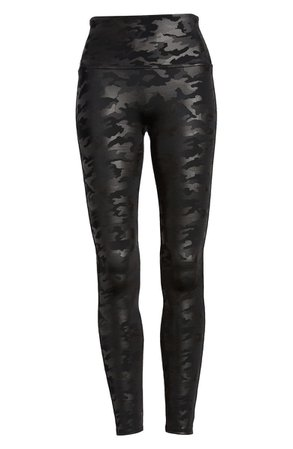 SPANX® Camo Faux Leather Leggings | Nordstrom