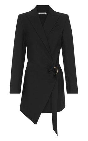 Valentina Draped Wool Mini Blazer Dress By Anna Quan   Moda Operandi