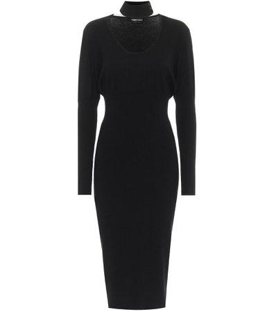 Tom Ford - Cashmere-blend midi dress | Mytheresa