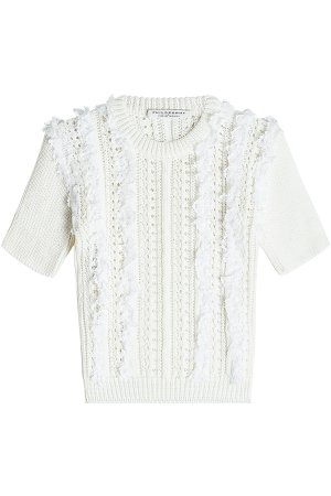 Knit Top with Ruffles Gr. IT 42