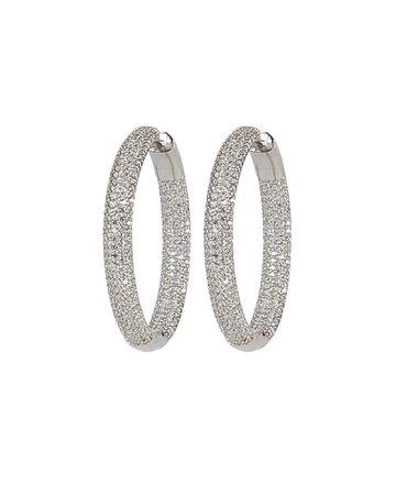 Nickho Rey | Tire Crystal Hoop Earrings | INTERMIX®