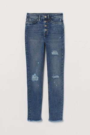 Skinny Fit High Jeans - Blue