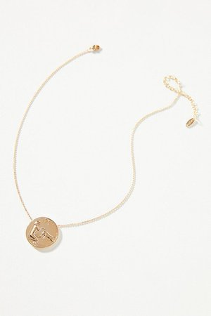 Zodiac Coin Pendant Necklace | Anthropologie
