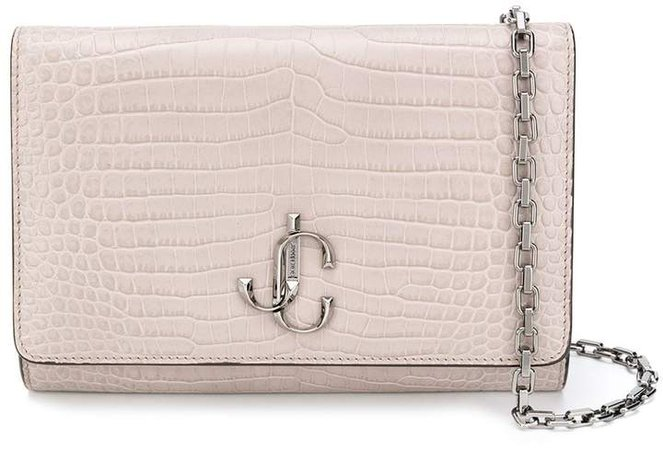 Varenne crocodile-effect clutch bag