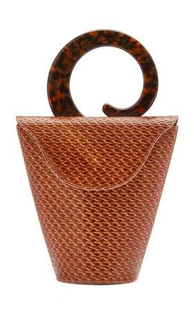 Consti Woven Leather Top Handle Bag by USISI SISTER | Moda Operandi