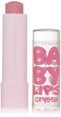 Amazon.com: Maybelline New York Baby Lips Crystal Lip Balm, Crystal Kiss, 0.15 Ounce: Beauty