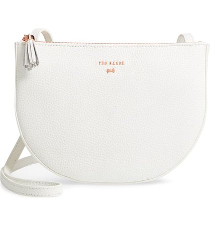 Ted Baker London Suzzane Semi Circle Double Zip Leather Crossbody Bag   Nordstrom