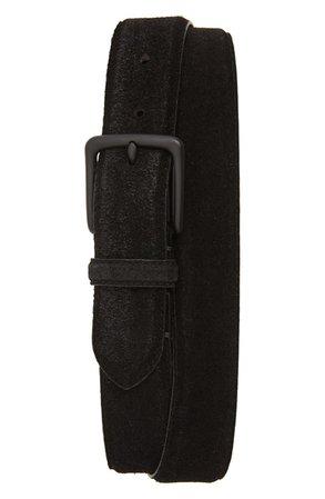 ALLSAINTS Distressed Suede Leather Belt