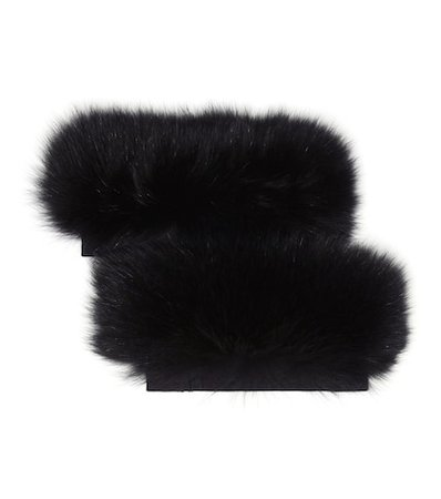 Susanna fox fur cuffs