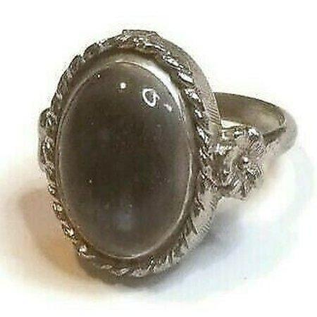 Jewelry | Vintage Smoky Gray Moonstone Adjustable Ring | Poshmark