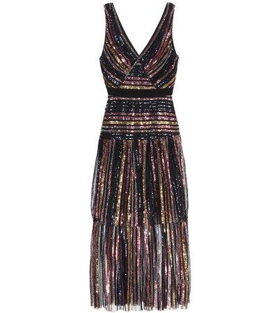 Sequined Midi Dress | Self-Portrait - Mytheresa