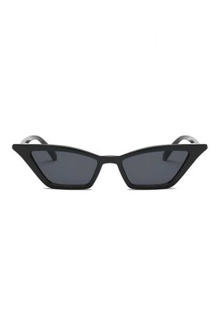 ATTITUDE CLOTHING // Black Cat Eye Sunglasses